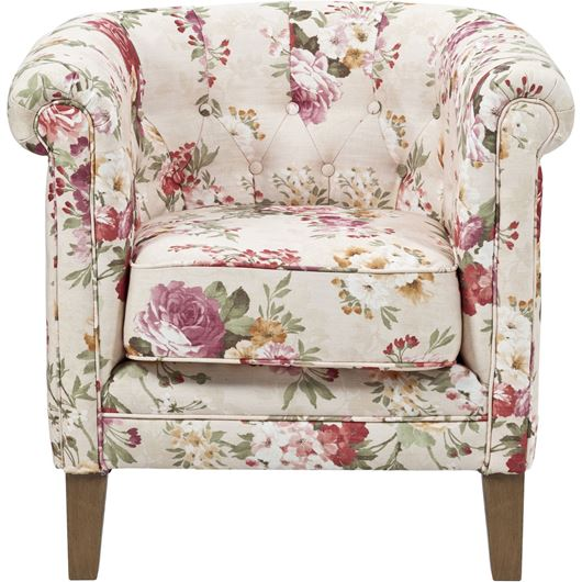 WINDSOR armchair cream/red