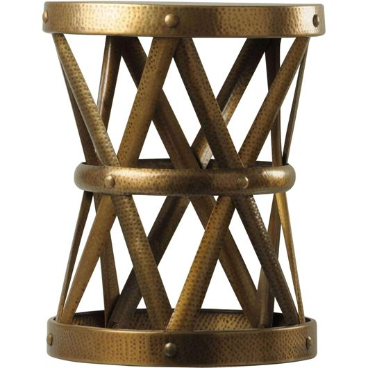 LAWTON stool d42cm gold