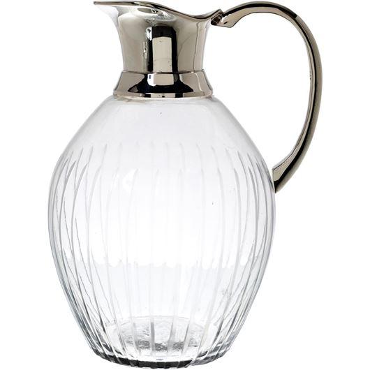 Picture of TARU jug h24cm clear/silver