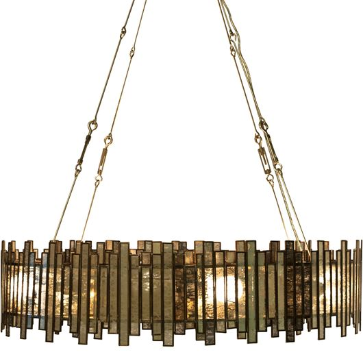 Picture of RING chandelier d91cm clear/copper