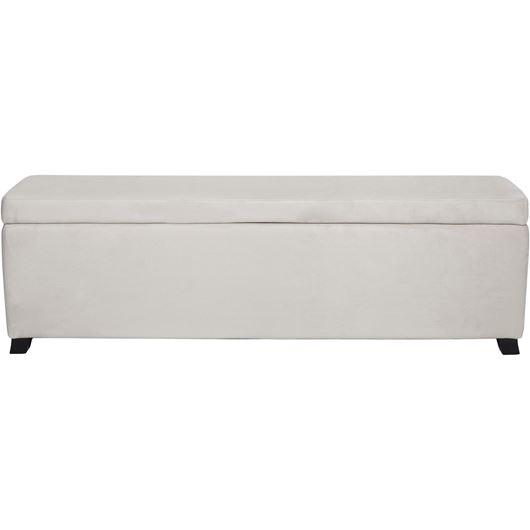 LIRA stool 160x40 microfibre natural