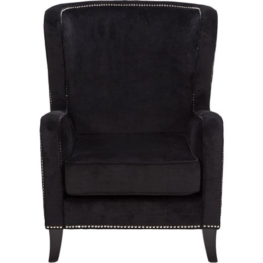 GLADE wing chair black
