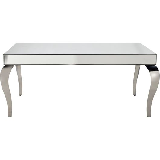 POLLY dining table 180x90 clear/stainless steel
