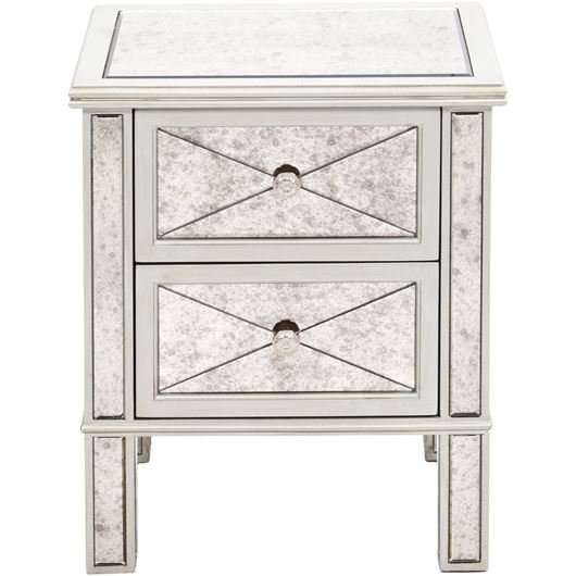 TANNI bedside table silver