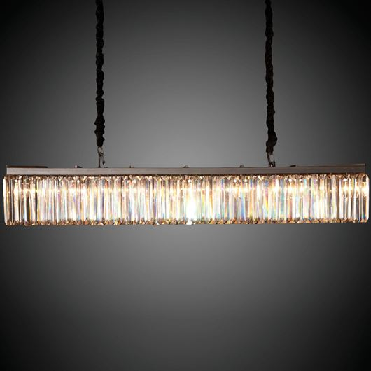 Picture of RYLAN chandelier 125x36 clear/black