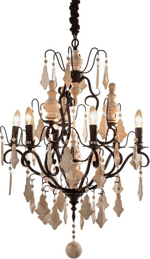Picture of ALINA chandelier d68cm black