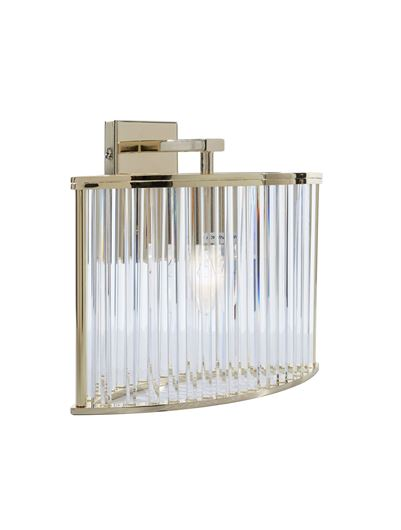 Picture of OVAL wall lamp h27cm gold/clear