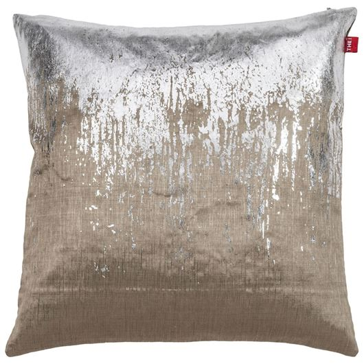 Picture of NAZIYA cushion cover 45x45 silver/brown