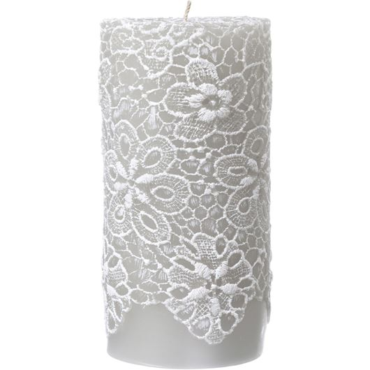 AFON pillar candle 8x15 grey