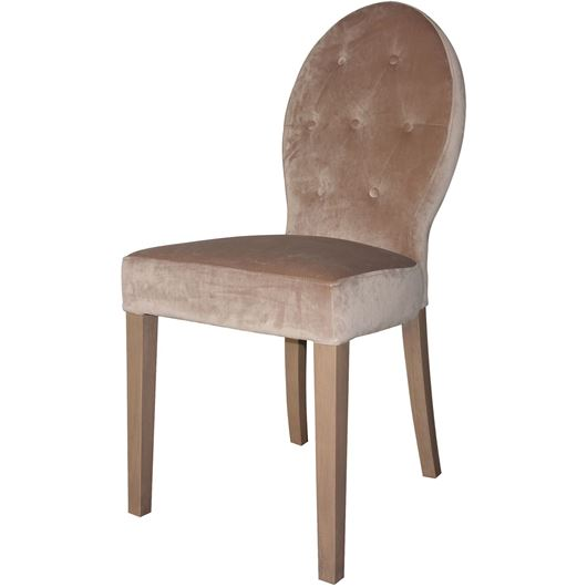 NIKO dining chair pink/taupe