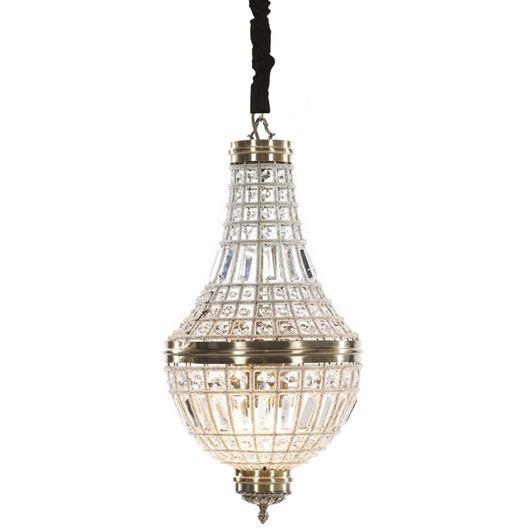 KAYO chandelier d36cm clear/bronze