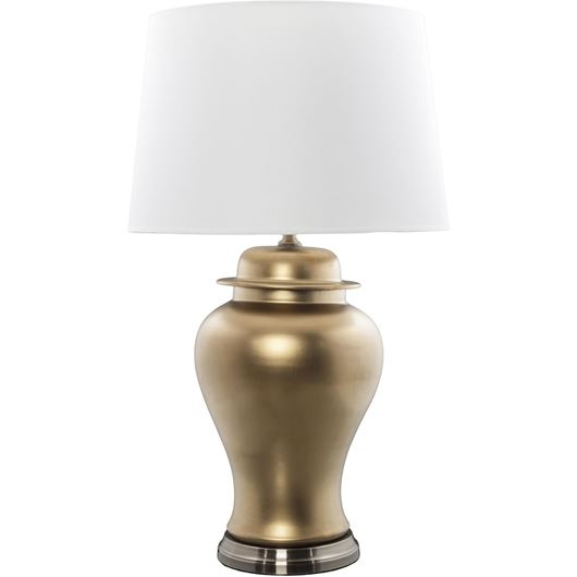 JANIA table lamp h90cm white/gold