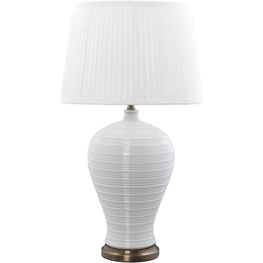 MAKSI table lamp h70cm white/brass