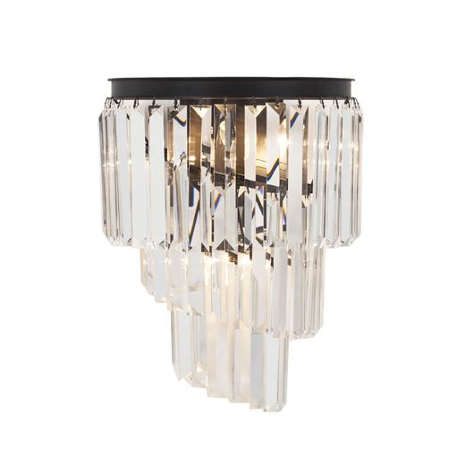 Picture of DALLON wall lamp h46cm clear