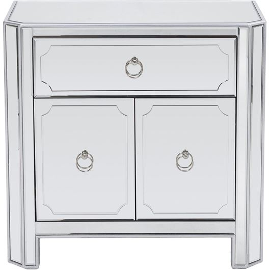 Picture of SEBAZ bedside table clear/silver