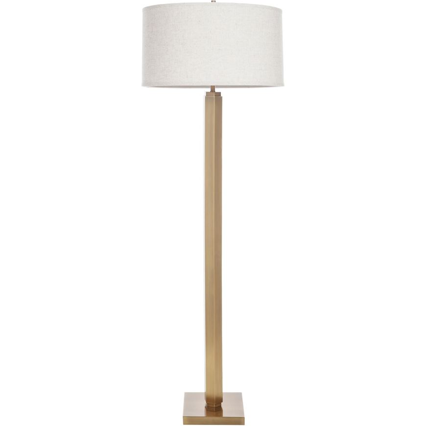 Picture of ABA floor lamp h165cm beige/brass