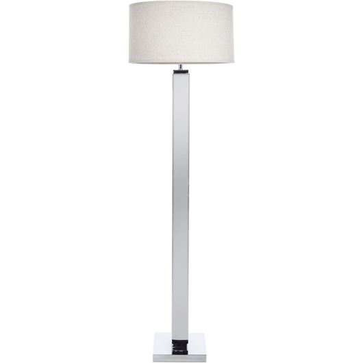 Picture of AGNA floor lamp h165cm beige/stainless steel