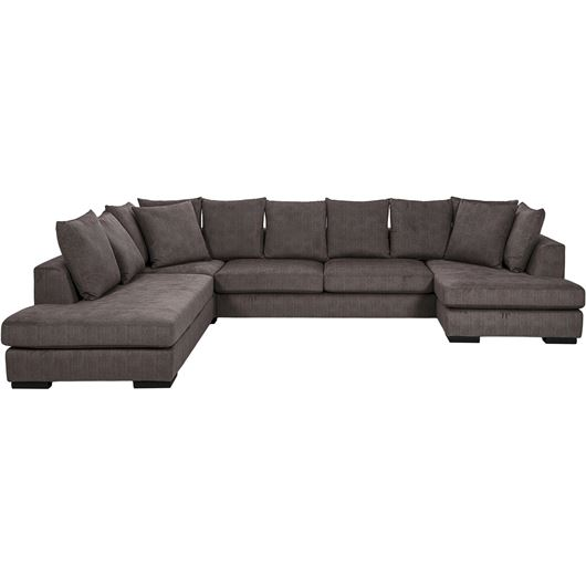 PASO sofa U shape Left brown