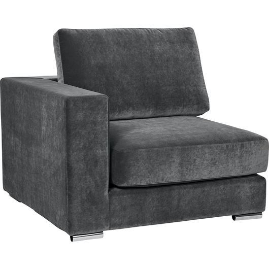 Picture of NICOLETA chair with Left arm grey