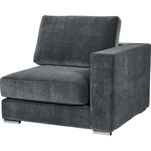 Picture of NICOLETA chair with Right arm grey
