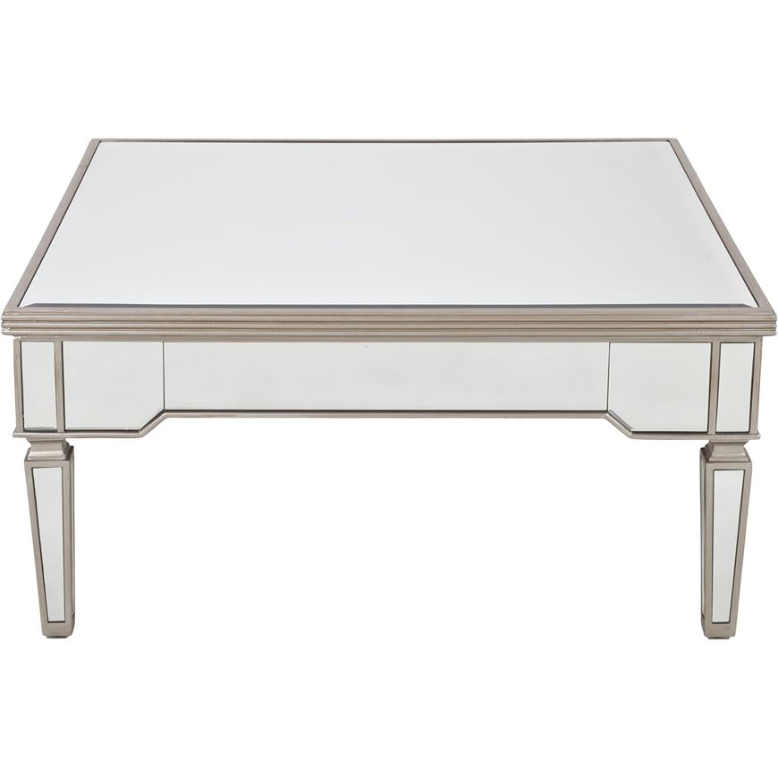 Picture of AINA coffee table 100x100 clear/gold