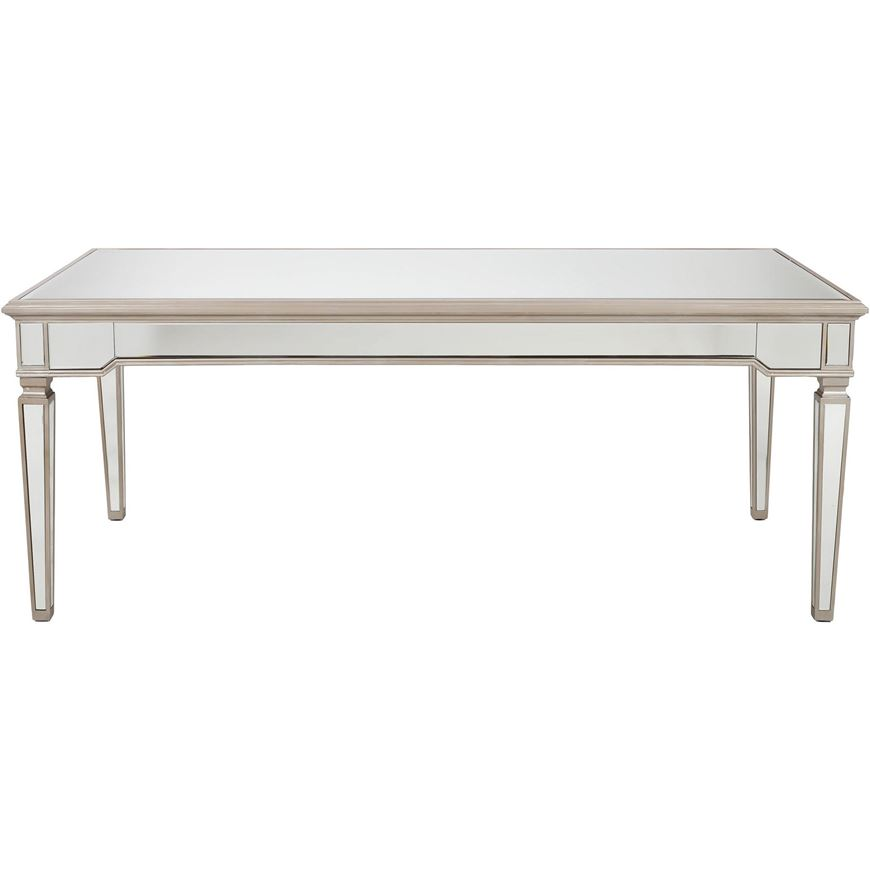 Picture of AINA dining table 200x100 clear/gold