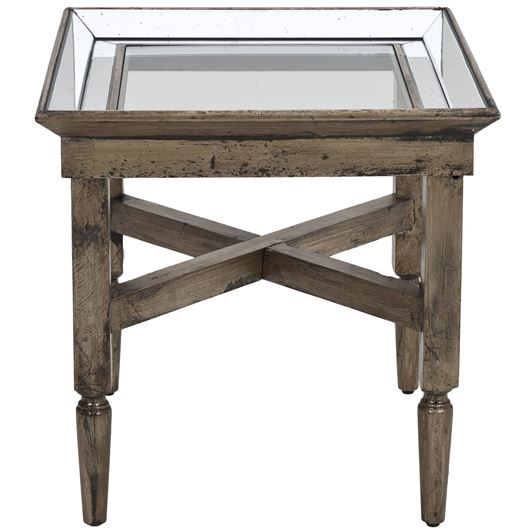 Picture of SORINA side table 61x61 silver/clear