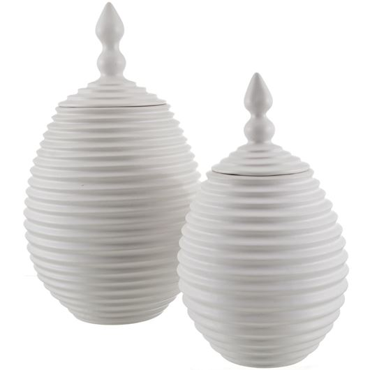 Picture of EASTERN urn h35cm white