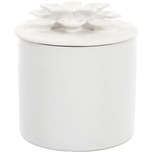 Picture of DAISY box h11cm white