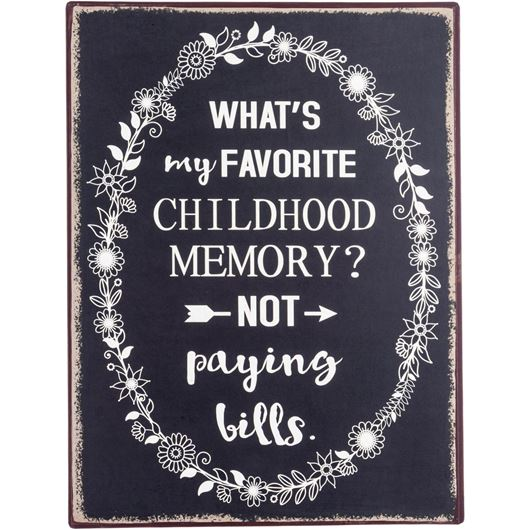 Picture of BILLS wall decoration 35x27 black