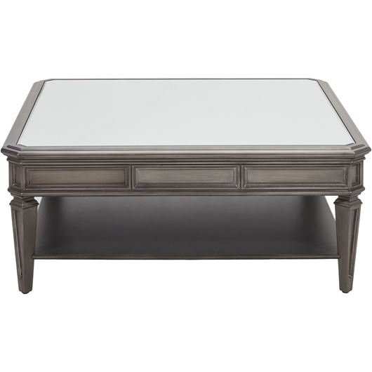 Picture of RIAM coffee table 110x110 clear/silver