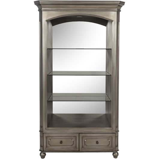 Picture of MIAM display cabinet 213x122 clear/gold