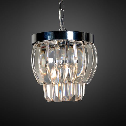 SUMIKO pendant lamp d28cm clear/stainless steel