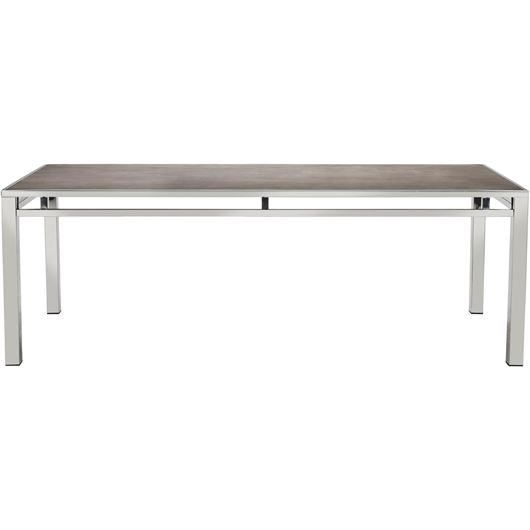VENES dining table 220x90 brown/stainless steel