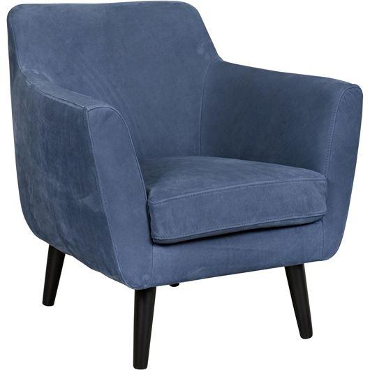 Picture of DAGMAR armchair leather dark blue