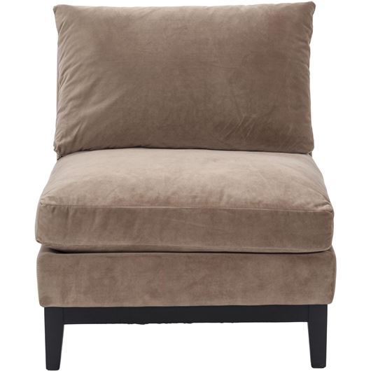 Picture of EDGE armchair microfibre light brown