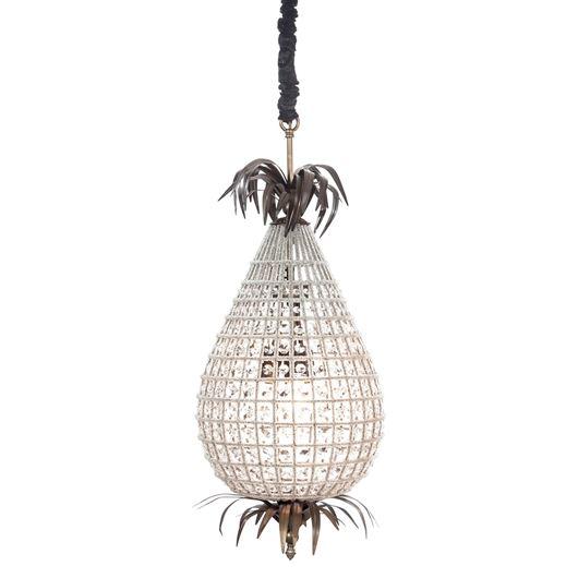 AKI chandelier d36cm clear/brass