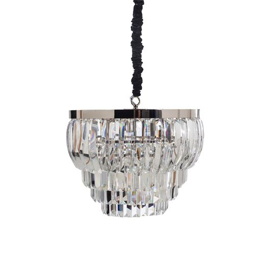 Picture of SUMIKO chandelier d52cm clear/stainless steel