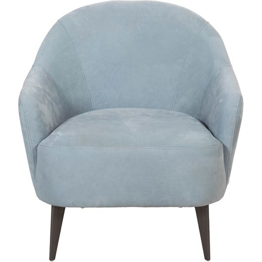 Picture of PALOMA armchair leather light blue
