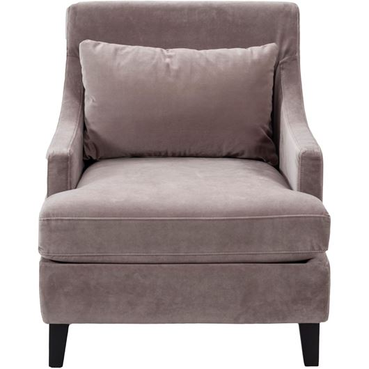HOW armchair microfibre taupe
