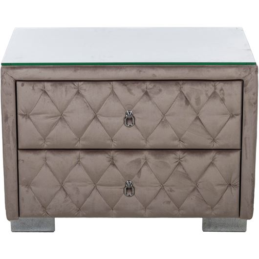 Picture of STABIL bedside table microfibre taupe