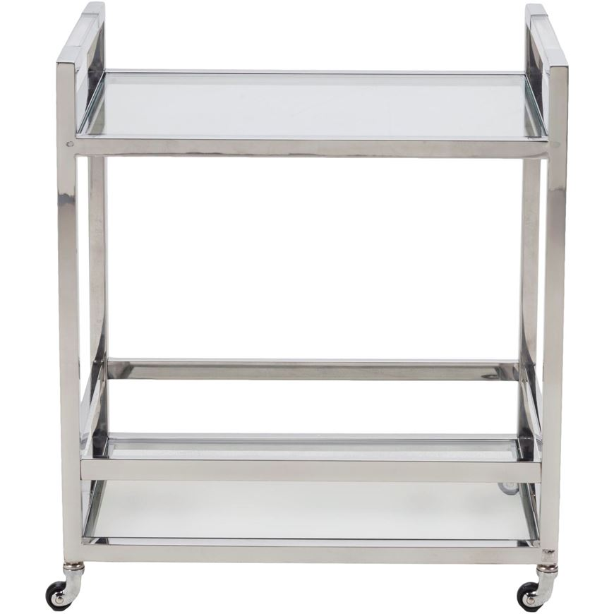 Picture of ADOM butler trolley 65x45 clear/stainless steel