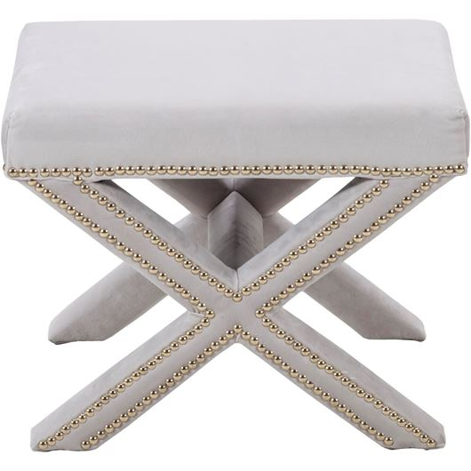 Picture of CLAR footstool 52x37 white