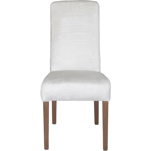 Picture of REBECA dining chair white/taupe