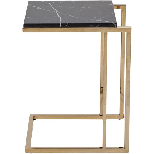 Picture of BEN side table 40x45 black/gold