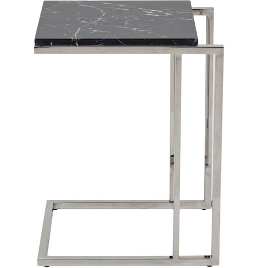 Picture of BEN side table 40x45 black/stainless steel