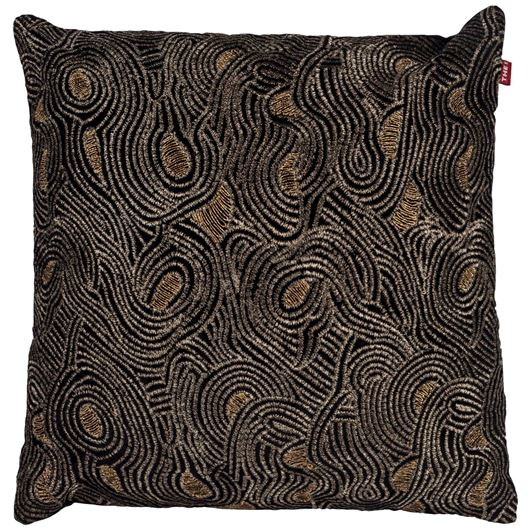 Picture of CARON cushion cover 45x45 black/gold
