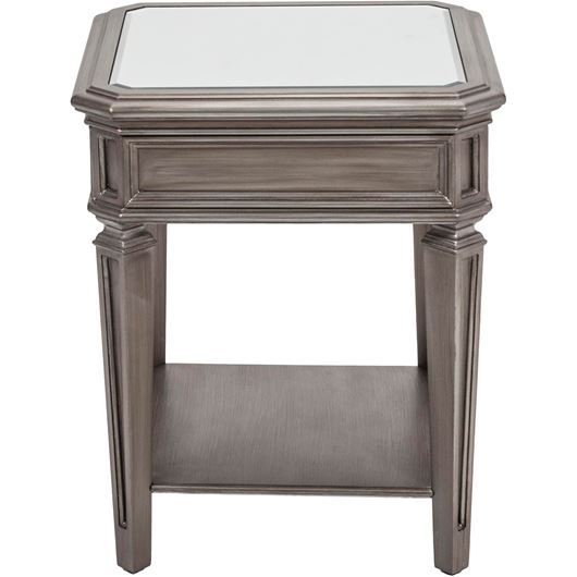 Picture of RIAM side table 51x51 clear/silver