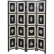 Picture of ANVI floor screen 183x161 black/white