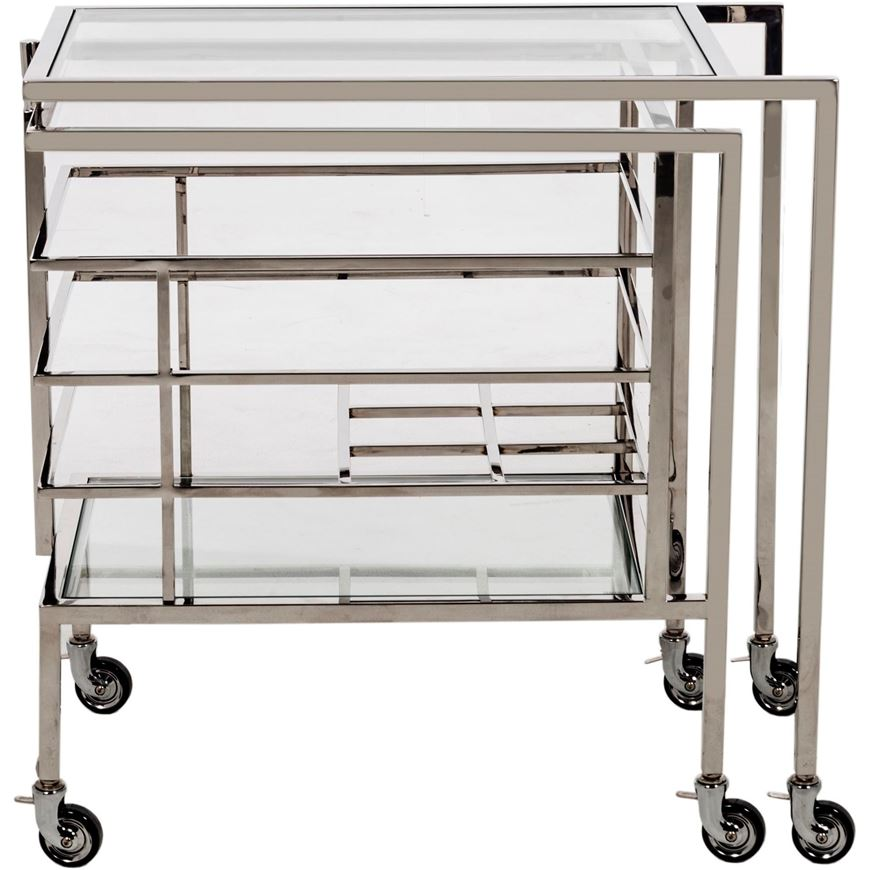 Picture of AT trolley 86x45 clear/stainless steel